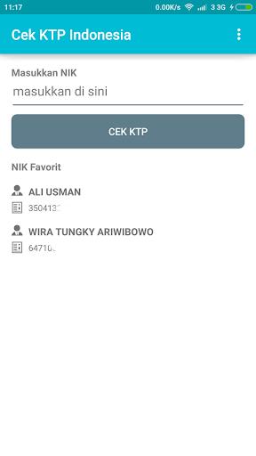 Cek KTP Indonesia
