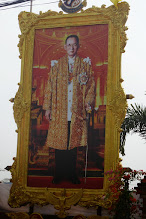 Photo: People and businesses put up large pictures of the king everywhere.  He is very well loved.  Our guide has many pictures of him in his house.