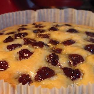 Morello Cherry Sponge Cake.