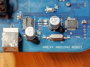 Photo: AAR-04 FTDI Chip, USB connector and ATmega328 processor