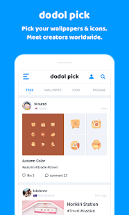 (Beta) Wallpaper & Icon Share Platform – DodolPick - náhled