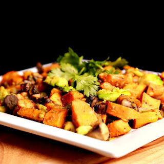 Sauteed Sweet Potato with Avocado.