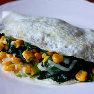 Spinach Omelet with Gouda