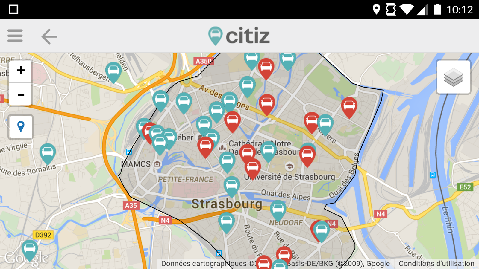 Citiz – Capture d'écran