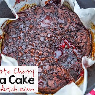 Chocolate Cherry Lava Cake.