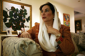 Photo: (NYT27) UNDATED -- June 3, 3007 -- PAKISTAN-BHUTTO-2 -- Benazir Bhutto, leader of the Pakistan People's Party, during an interview, May 22, 2007 in an undisclosed location. Former Prime Minister Bhutto is stirring up Pakistani politics by talking of a power-sharing deal with the president, Gen. Pervez Musharraf, and, in an interview, of returning to Pakistan before the end of the year. (Joao Silva/The New York Times)?????????????????????????????????????????????????????????????????????????????