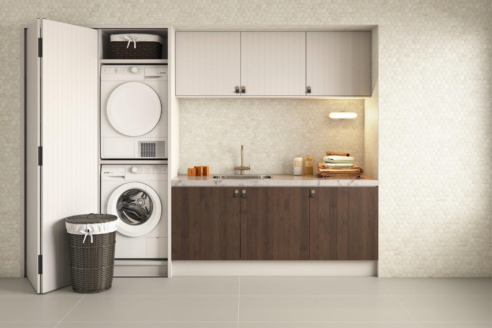 """A própria lavanderia pode ser usada como função de """"espaço higiene""""."""