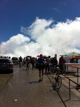 Photo: Arrivée au col du Mont Ventoux, comme un tour de France, avec klaxon, applaudissements, sympa !!