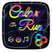 Color Run Go Launcher Theme