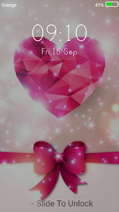 Diamond Hearts Live Wallpapers ( Lock Screen ) - náhled