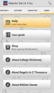 Webster's Dictionary+Thesaurus - screenshot thumbnail