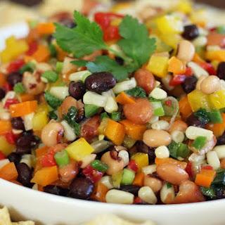 Cowboy Caviar Southwestern Bean and Veggie Dip.