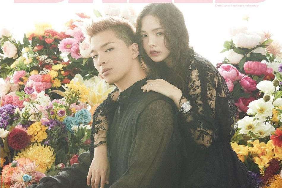 taeyang and hyorin1