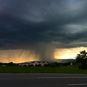 Storm Brewing by Jennifer Lamanca Kaufman - Landscapes Weather ( pwcstorm-dq )