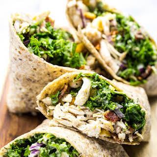 Chicken and Kale Caesar Wraps.
