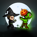 Halloween Adventure - Retro Pixel Art Game