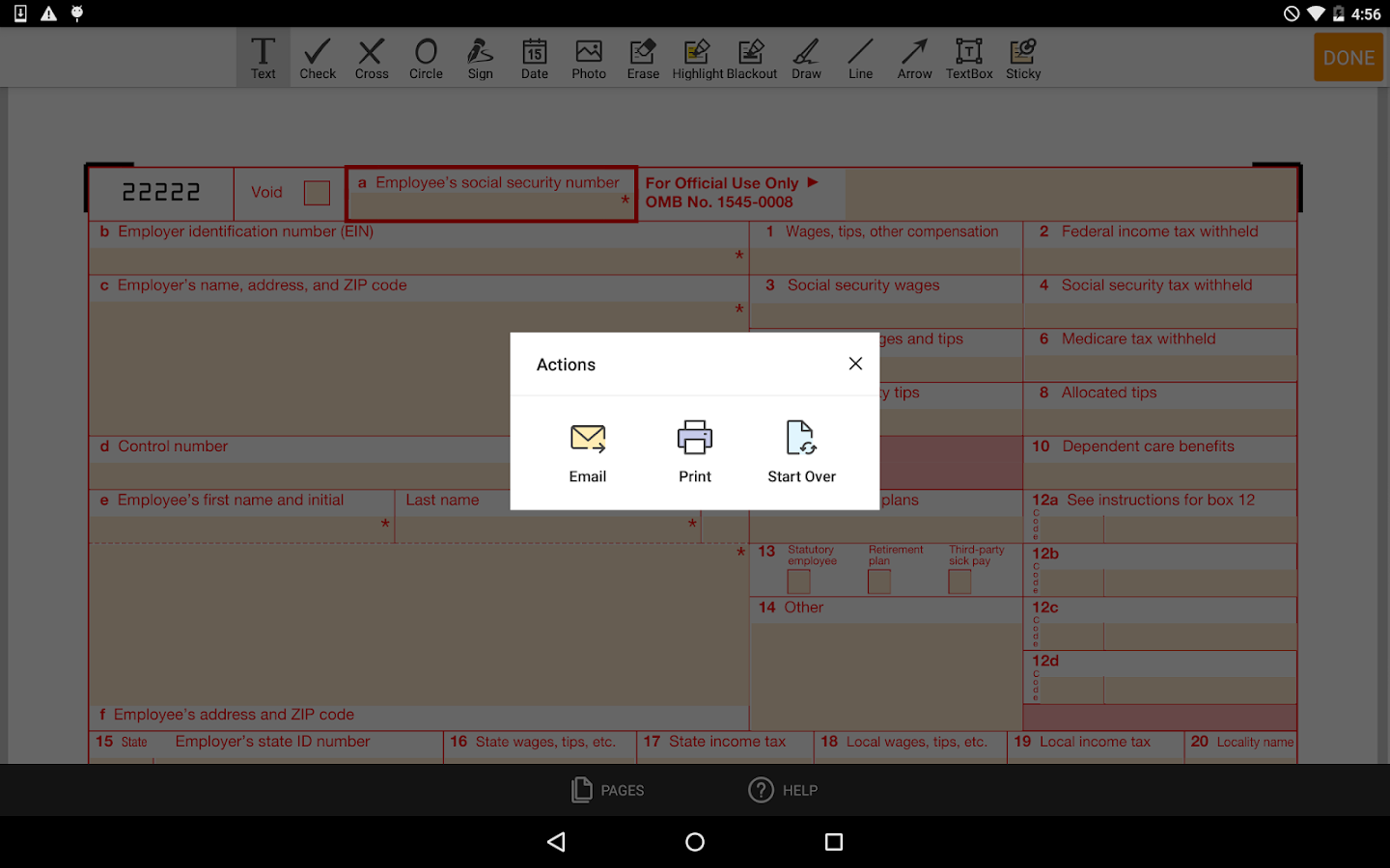 Irs w 2 form android apps on google play irs w 2 form screenshot falaconquin
