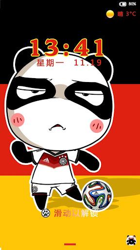 熊猫汤姆-闪电锁屏主题
