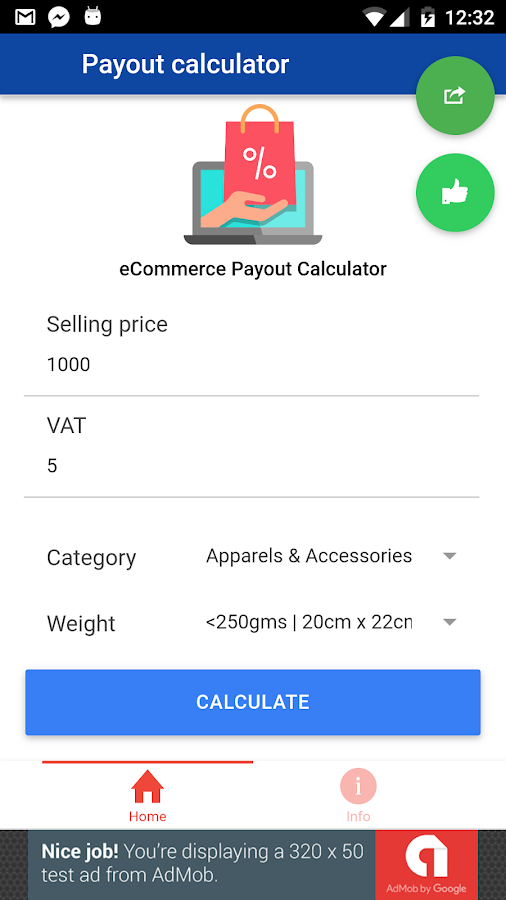 eCommerce Payout Calculator