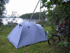 Photo: Наш лагерь у озера Суоярви