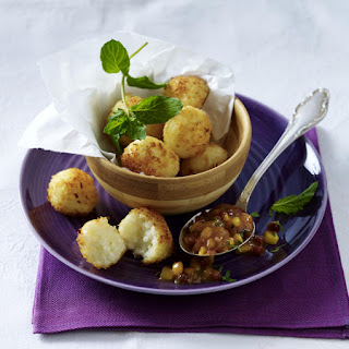 Rice Balls with Mango Chutney