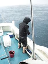Photo: 男ですなー! 大雨もなんのその!