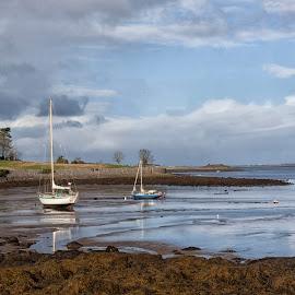 Kinvara Boats  by Helen Quirke  - Landscapes Beaches ( water, boats, galway, wild atlantic way, beach, kinvara,  )