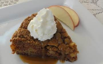 Apple Cake with Hot Caramel Sauce