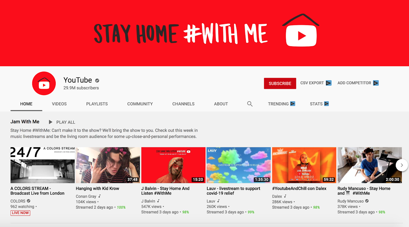 Turn to YouTube Live as Social Distancing Heats Up