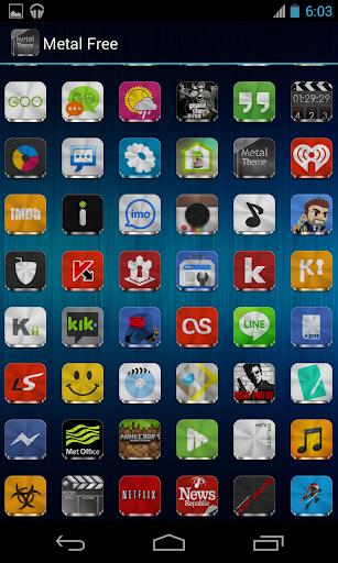 Metal Free(APEX NOVA GO THEME) 1.5.0 screenshots 6