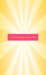 Lise Ortalama Hesaplama - náhled