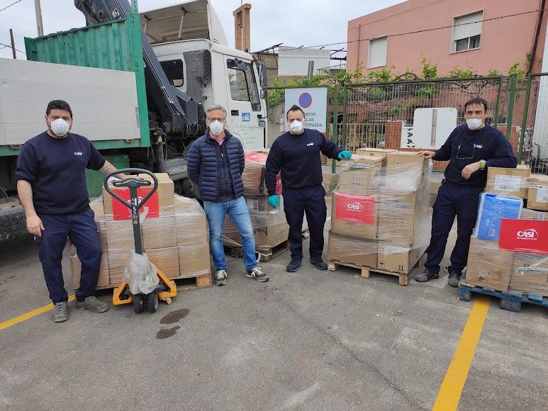 Suministros CASI donación EPIs a Torrecárdenas y distrito sanitario Almería.