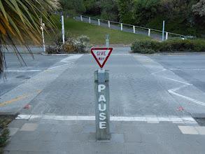 Photo: Kaikoura. En este país el peatón no tiene prioridad
