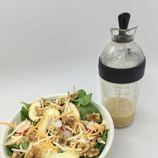 Apple & Walnut Salad with Spicy Mustard Dressing