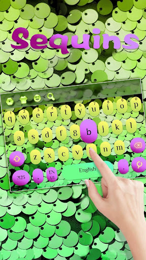 Green Sequins Keyboard for PC