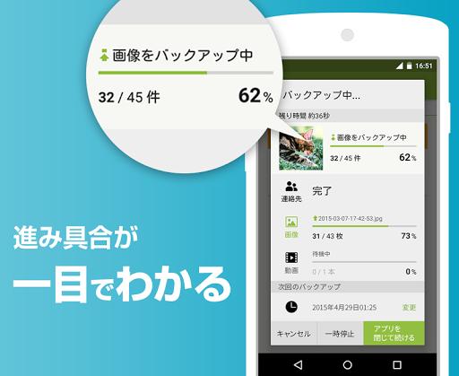 Yahoo!かんたんバックアップ-電話帳や写真をまとめて保存 app (apk) free download for Android/PC/Windows screenshot