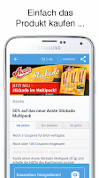 Screenshot of COUPIES Coupons im Supermarkt