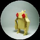 Origami Papier Handwerk icon