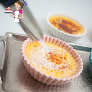 Creamy Apricot Creme Brulee.