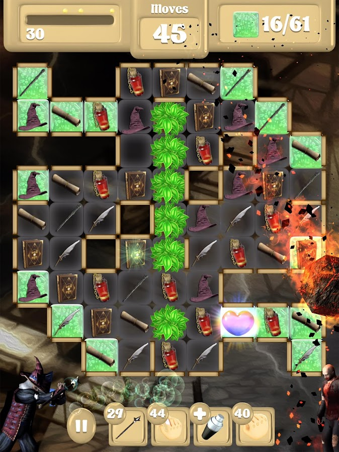 Wizard Vs Zombie - Match 3- screenshot