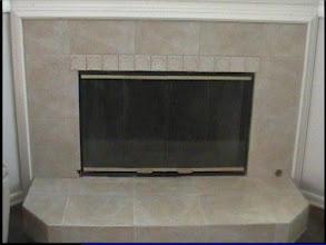 Photo: fireplace tiled