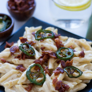 Smoked Gouda and Swiss Mac N Cheese with Bacon and Jalapeños