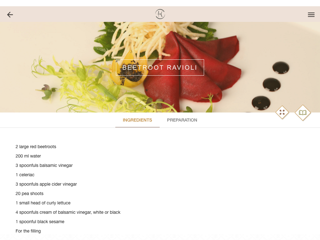 Chenot Cookbook- screenshot