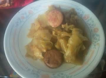 Baked Cabbage with Kielbasa