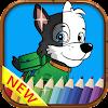 Paw Pups Patrol Paint Coloring APK