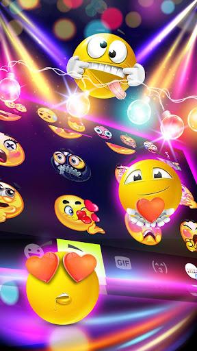 sparkle neon led lights keyboard theme screenshot 3