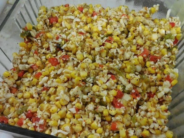 Remove corn from cob, mix with roasted, chopped peppers, salsa and seasonings and mix...