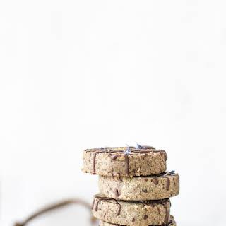 Earl Grey Creme Chocolate Chunk Shortbread Cookies.