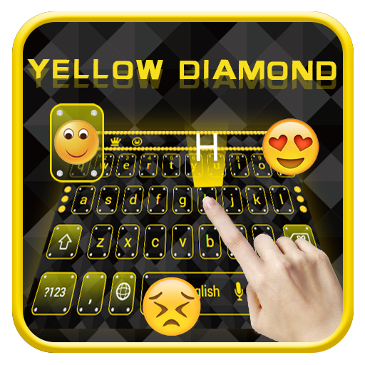 Yellow diamond keyboard