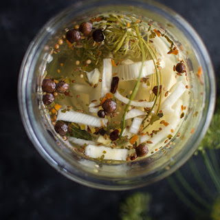 Cucumber and Fennel Quick Pickles